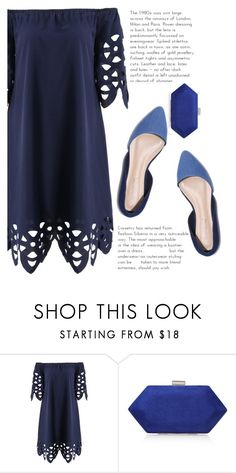 """""""blue"""" by elisabetta-negro ❤ liked on Polyvore featuring Miss KG and under100dress"""
