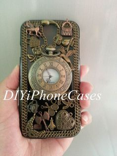Galaxy Note 3 Case, Retro Roman numerals Pocket Watch, unique Galaxy Note 2 Case, Galaxy S4 antique Watch Cases, Charms iPhone 5 Case 5S