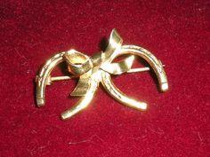 Vintage Brass Horseshoe Pendant by PopsCandy on Etsy, $8.00