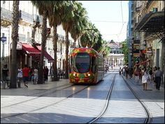 ma belle ville / my beautiful city Montpellier France Places Around The World, Travel Around The World, Around The Worlds, Tram Montpellier, Beautiful Places To Visit, Cool Places To Visit, Canal Du Midi, European Road Trip, Museum Hotel
