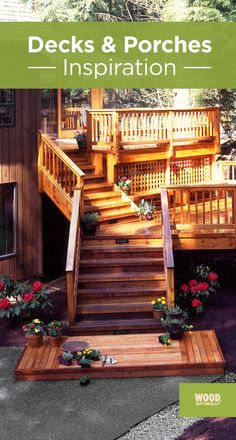 If Youu0027re Looking For Inspiration To Build A Wood Deck Or Porch, We