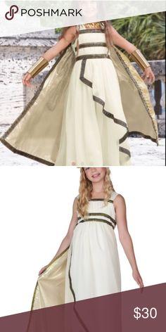 Greek goddess costume Costume w dress, cape and head piece worn once Costumes Halloween