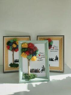Moss Wall Art, Moss Art, Projects To Try, Frame, Modern, Handmade, Sustainable Development, Home Decor, Craft