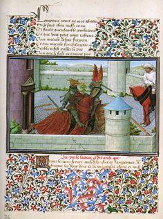 Barthélémy d'Eyck, Cœur vainc Courroux (Livre du Cœur d'Amour épris) (1457-72, Österreichische Nationalbibliothek, Wien)