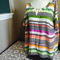 Color Striped Blouse NWT plus Worthington Tops Blouses