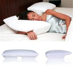 Living Healthy Products BSP-002-SM Small Better Sleep Pillow Cream Velour Cover, Multicolor