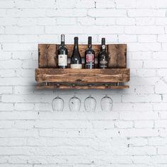 alternativ rustik indretning med møbler af paller rustik vinhylde