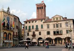 Bassano del Grappa, Italy is named after the mountain range behind the town.
