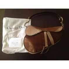 d910284add9b Christian Dior suede   pony hair saddle bag This is an iconic