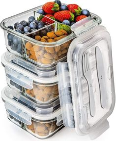 EatNeat 10 Piece Square Glass Food Storage and Meal Prep Container Set and 500°