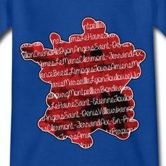 T shirt bleu r enfant Villes française et carte de la France  - Tee shirt Enfant