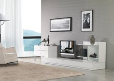VIG Modrest Maryland White 3-Piece Entertainment Center for $1083