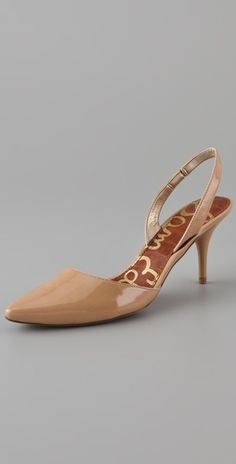 Lovely nude shoes.