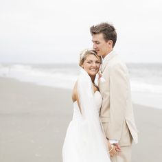 #wilddunesweddings Charleston, SC Beach Weddings | Bride and Groom Beach Portraits | Photo by Mcbee Photography