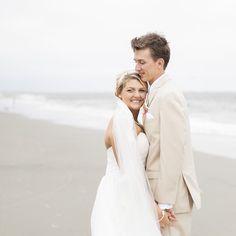 #wilddunesweddings Charleston, SC Beach Weddings | Bride and Groom Beach Portraits | Photo by Mcbee Photography