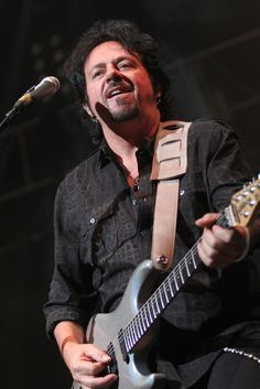 Steve Lukather, American guitarist, singer, songwriter, arranger and record producer, best known for his work with the rock band Toto. G3 Tour. Mexico DF. October 2013