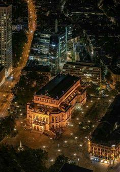 Old Opera Frankfurt Germany Frankfurt Germany, Our World, Architecture Design, Maine, Opera, Europe, Mansions, House Styles, City