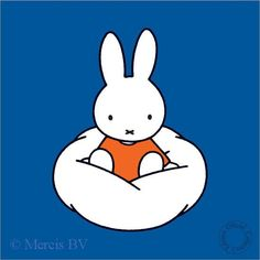 Miffy on a Cloud. I need this on my wall.
