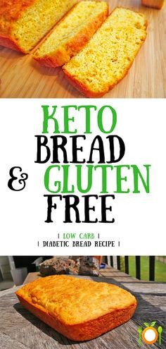 Low Unwanted Fat Cooking For Weightloss Bread That Is Keto Diet Friendly, Low In Carbohydrates and Gluten Free. Gluten Free Recipes, Low Carb Recipes, Bread Recipes, Healthy Recipes, Gf Recipes, Healthy Desserts, Brunch Recipes, Healthy Foods, Dessert Recipes