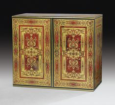 A BOULLE BRASS AND RED-TINTED-TORTOISESHELL MARQUETRY CABINET, LOUIS XIV, CIRCA 1700 | Sotheby's pf1631lot92pmhen