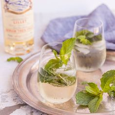 This lovely combination of Lillet, Elderflower cordial, Mint and Sparkling Water is so light and refreshing and perfect for hot summer days!