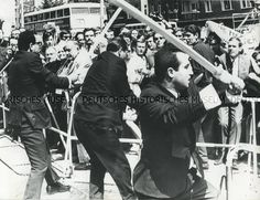 On June 2, 1967 german students had organized demonstrations against the official visit by the Shah of Iran in Berlin. In the morning, students and members of the Iranian opposition had been protesting outside Schöneberg Town Hall (the seat of the West Berlin government) against the Shah's politics. Members of SAVAK, the Iranian secret service, who presented themselves as Reza Pahlevi's supporters, started beating demonstrators. The police, however, did nothing to stop the attacks.