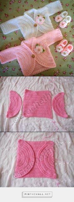 Crochet Patterns Sweaters Nice tutorial – created via Crochet Bebe, Baby Girl Crochet, Crochet Baby Clothes, Crochet For Kids, Knit Crochet, Crochet Hats, Ravelry Crochet, Crochet Slippers, Baby Knitting Patterns