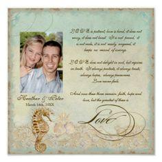 Sea Horse Coastal Beach - Wedding Personalized Poster   LOVE IT!!!!!!!!!!!!!!!!!!!!!!!!!!!!!!!!!!!!!!!!!!!!!!!!!!!!!!