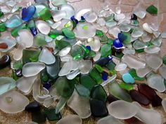 Polishing Sea Glass and creative crafts using glass and shells   IMG_1496 by kelseyinspired, via Flickr