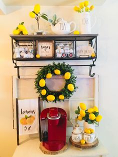 Using The Experts For Kitchen Renovations - Sweet Crib Lemon Kitchen Decor, Farmhouse Kitchen Decor, Home Decor Kitchen, Diy Home Decor, Room Decor, Coffee Bar Home, Summer Kitchen, Do It Yourself Home, Tray Decor