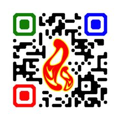 Olympic flame and colors in QR Code