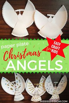 Easy Paper Plate Christmas Angel Craft for Kids Bible Crafts For Kids, Easy Crafts For Kids, Crafts To Do, Christmas Angel Crafts, Kids Christmas, Kids Plates, Church Crafts, Art Lesson Plans, Paper Angel
