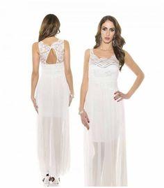 f5d8ae8df55 Vestido con encaje superior y pedreria. Nahimana Moda online · Vestidos de  fiesta