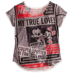 Mickey Mouse and Friends Tabloid Tee for Women - Disney Parks | Tees, Tops & Shirts | Disney Store