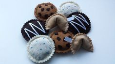 Kitty Cookies Hand-Stitched Catnip Toys by LuckyfootDesigns