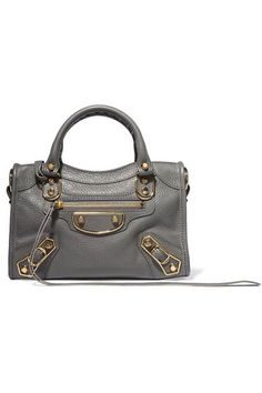 BALENCIAGA Metallic Edge City mini textured-leather tote. #balenciaga #bags #shoulder bags #hand bags #leather #tote #metallic #