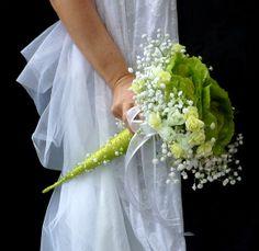 Silk flowers wedding bouguet Ornamental cabbage  by wandadesign, €38.00