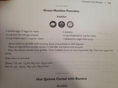 Green machine pancakes