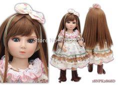 Volle Vinyl 18 Zoll (45 CM) SD/BJD Mädchen Bjd Puppe Realistische Baby Spielzeug Handmade Kinder Prinzessin Puppen Kinder Beste Geburtstagsgeschenke(China (Mainland))