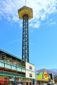 The Space Needle - Located in Gatlinburg, this landmark stands 407 feet tall. http://www.visitmysmokies.com/what-to-do/attractions/space-needle/