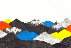 JAMIE MILLS / colours, red, blue, yellow, black / nice contrast