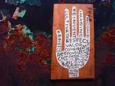 cultivate & consider...hand painted on a piece of wood i found on the lower east side