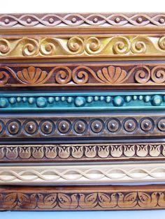 Профили за рамки. Pooja Room Door Design, Main Door Design, Cornice Design, Cnc Cutting Design, Border Tiles, Wood Carving Designs, Chip Carving, Fabric Stamping, Decorative Mouldings