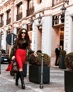 Casually walking by . Red Skirts, Walking By, Bridal Collection, Leather Skirt, Wedding Dresses, Style, Fashion, Bride Dresses, Swag