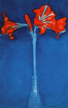 """Piet Mondriaan, """"Amaryllis,"""" 1910"""