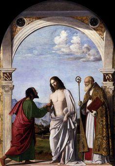 """Чима да Конельяно.""""Неверие Св Фомы епископу Магно"""". 1505  Галерея Академии художеств. Венеция"""