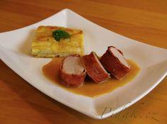 Obrázek z Recept - Vepřová panenka ve slanině s gratinovanými brambory