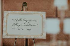 Gatsby Inspired Real Wedding