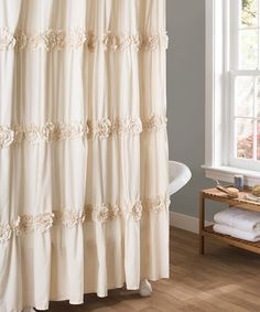 Triangle Home Fashions 16685 Lush Decor Gigi Shower Curtain Ivory Comforters And Linens Pinterest Comforter