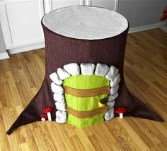 Fabric playhouses!!! These would be great for my siblings and younger cousins. Might be too much for me to handle though.